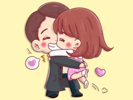 Young Couple Stickers