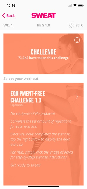 Sweat kayla itsines fitness on the app store sweat kayla itsines fitness on the app store fandeluxe Choice Image