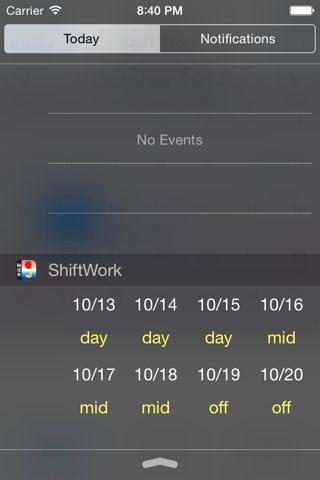 Shift worker's calendar - náhled
