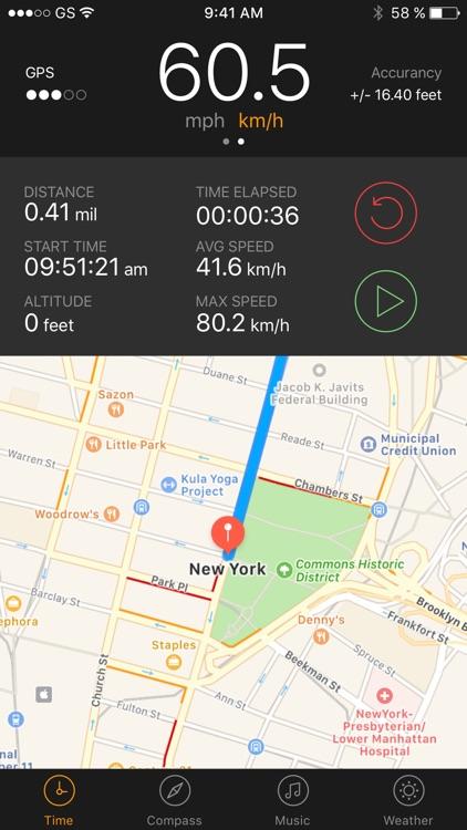 GPS Running Walking tracker