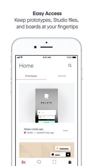invision design prototype をapp storeで