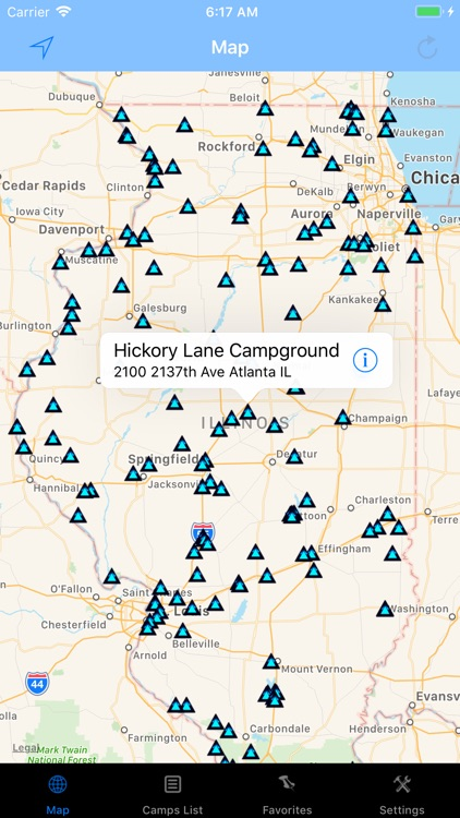 Illinois – Camping & RV spots