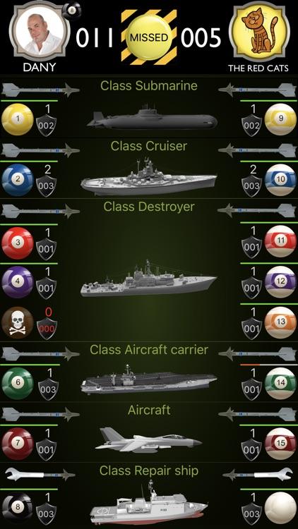 Naval Battle Billiard