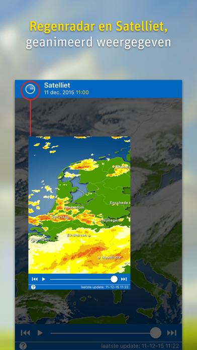 WeatherPro iPhone app afbeelding 2