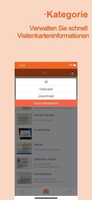 Visitenkarten Scanner Wecard Im App Store