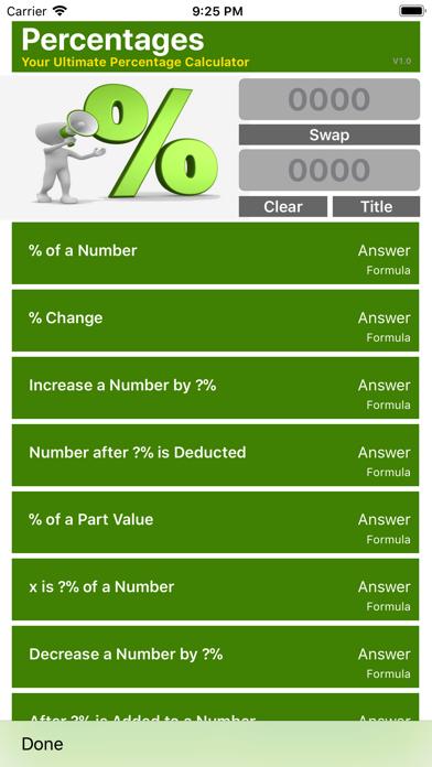 Ultimate Percentage Calculator screenshot one