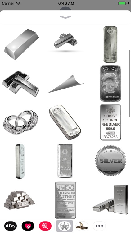 Silver Stickers Pack