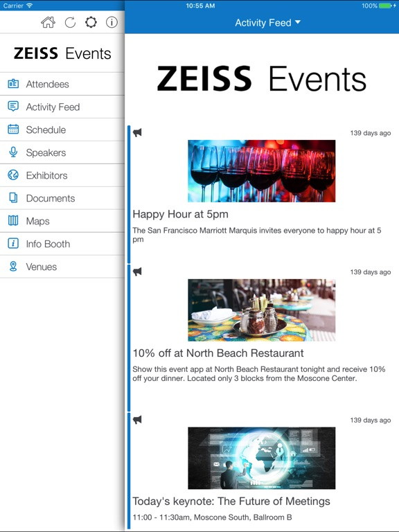 iPad Image of ZEISS Events