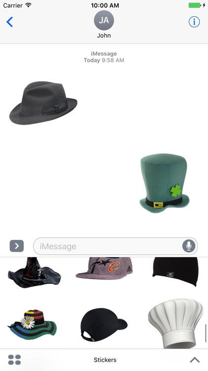 Fun Hat Stickers Pack