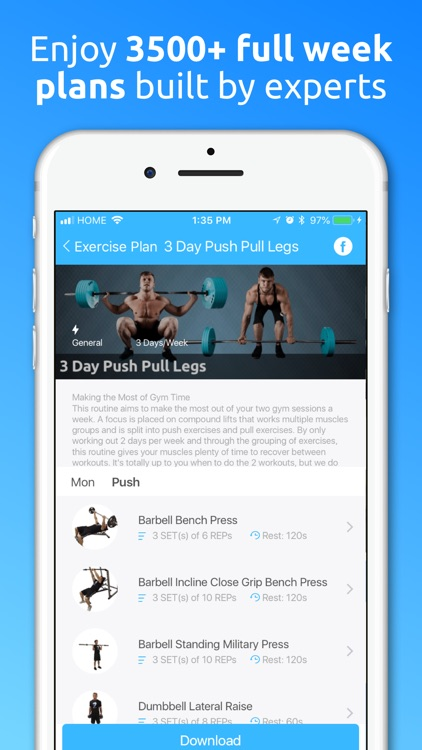 JEFIT Workout Planner Gym Log