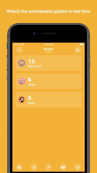 Screenshot of Scorecard: Point Tracker App