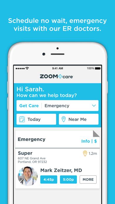 ZOOM+Care On-Demand Healthcare screenshot three