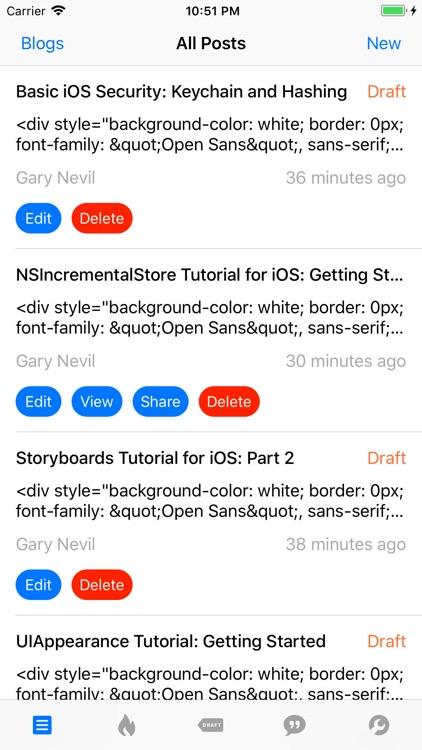 App for Blogger