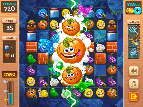 Скачать игру Веселый Огород 3 в ряд