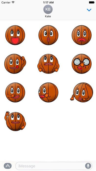 Basketball Club Emoji Sticker screenshot 3