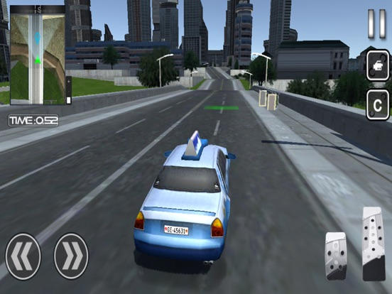 Crazy City Taxi Car Driver 3D для iPad