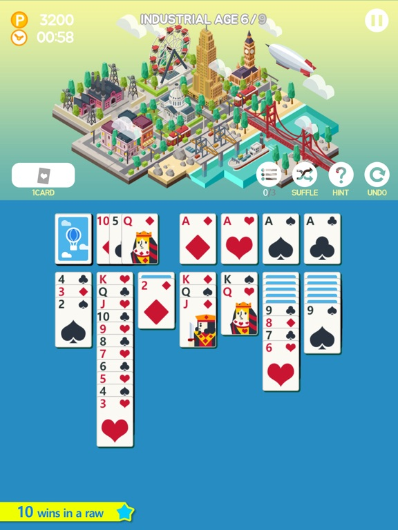 Age of Solitaire : Build City на iPad
