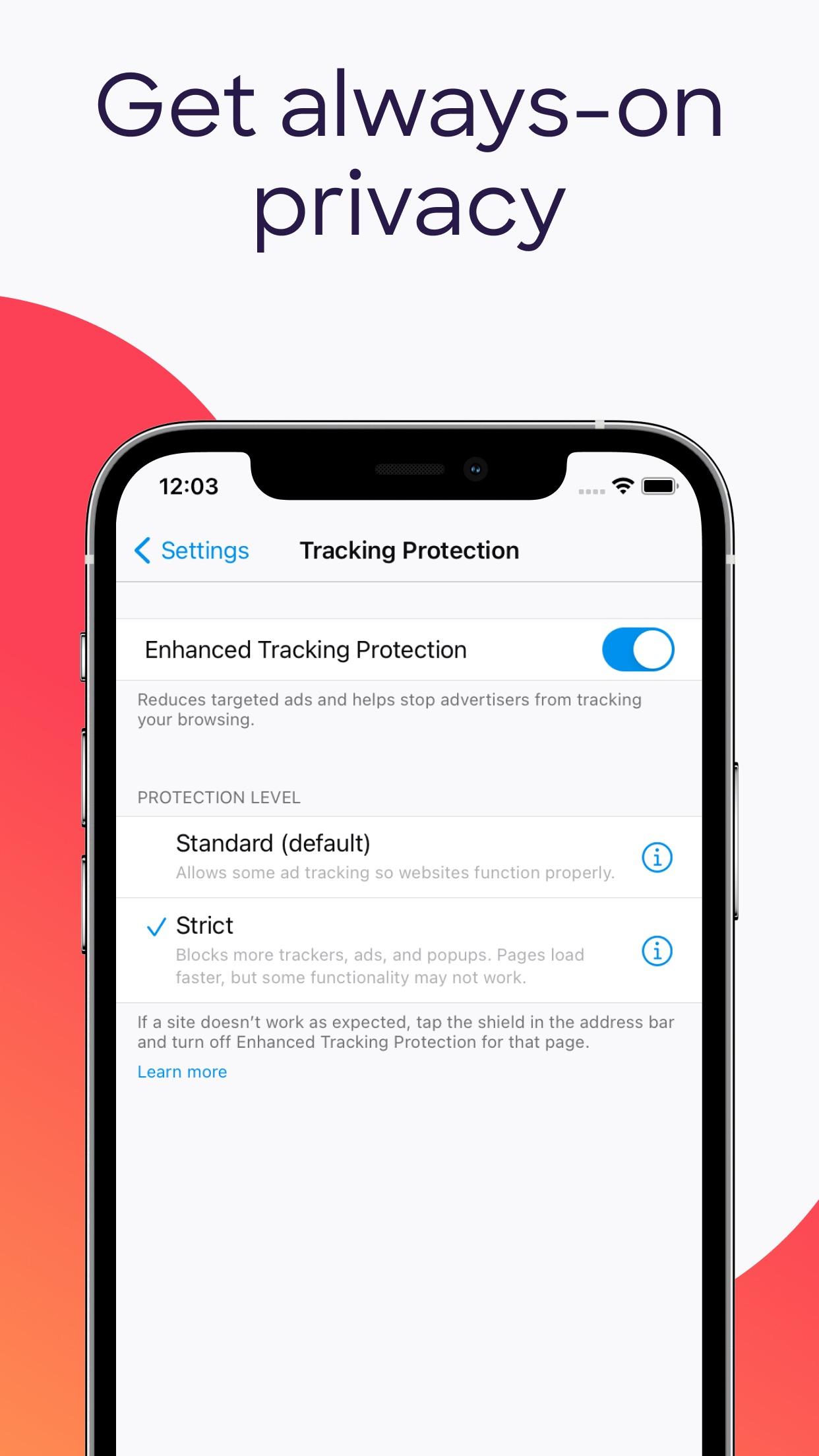 Screenshot do app Navegador web Firefox