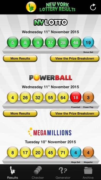 NY Lotto Results screenshot two