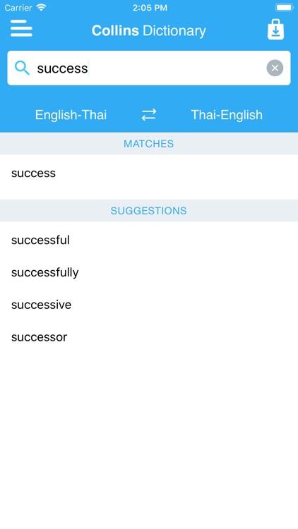 Collins Gem Thai Dictionary screenshot-3