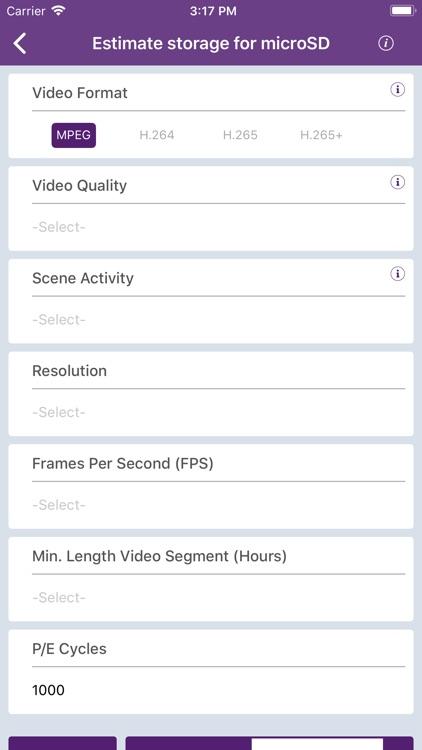 WD Purple Storage Calculator screenshot-4