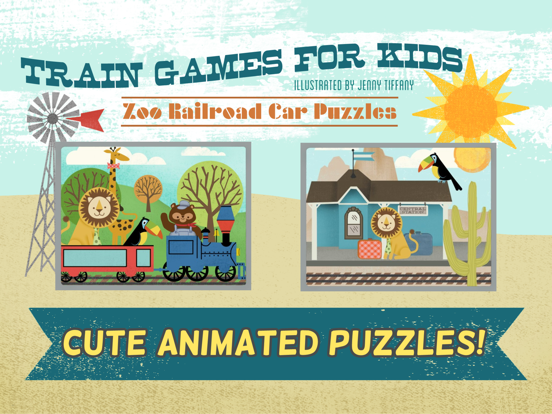 Train Games for Kids: Zoo Railroad Car Puzzles screenshot