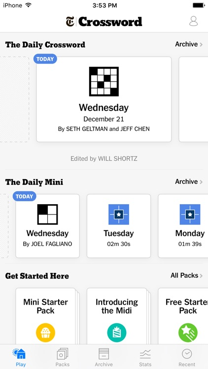 NYTimes Crossword - Daily Word Puzzle Game screenshot-0