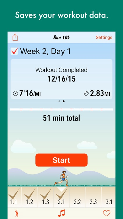 Run 10k - interval training program + stretches screenshot-4