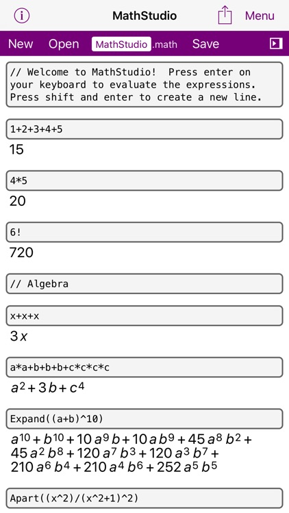 MathStudio - Try the online version