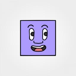 Artistic Squared Faces Emojis