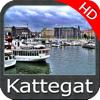 Marine Kattegat HD GPS chart fishing map navigator