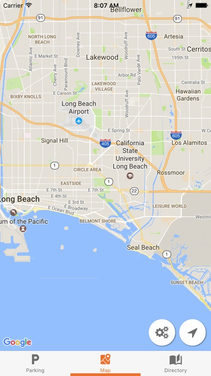 Maps for CSULB by Bin Chan California State University Long Beach Map on