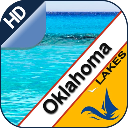Oklahoma lake GPS offline nautical fishing charts