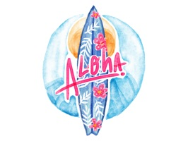 Aloha Hawaii Travel Summer Vacation Stickers
