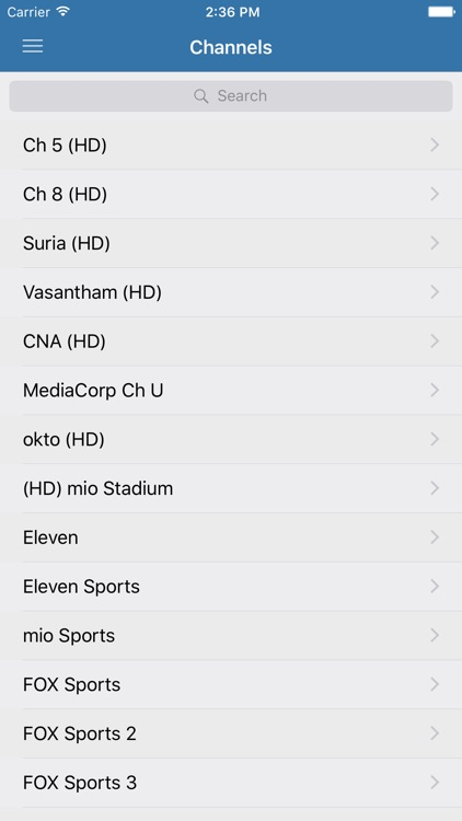 Television Guide for Singapore