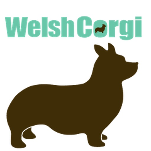 Welsh Corgi Dog Silhouette Sticker Pack