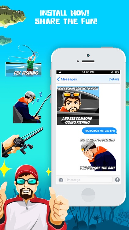 BassMoji – Pro Bass Fishing Emoji & Stickers Pro screenshot-4
