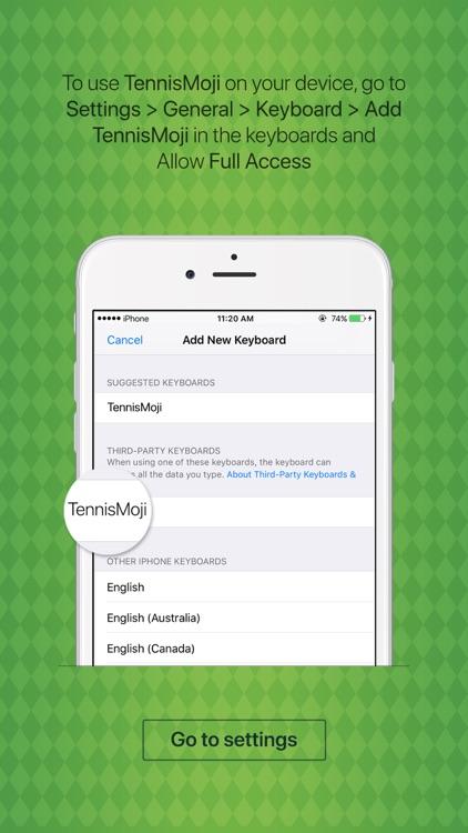 TennisMoji - tennis emoji & stickers keyboard app screenshot-3