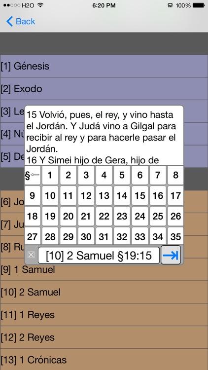 Santa Biblia Version Reina Valera (con audio) screenshot-3