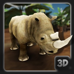 3D Angry Rhinoceros Simulator - Wild Animal Game