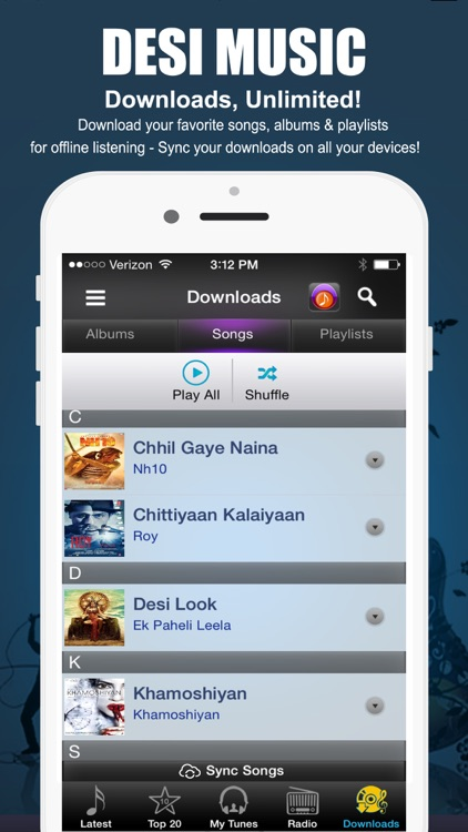 Desimusic: Hindi Songs & Radio screenshot-4
