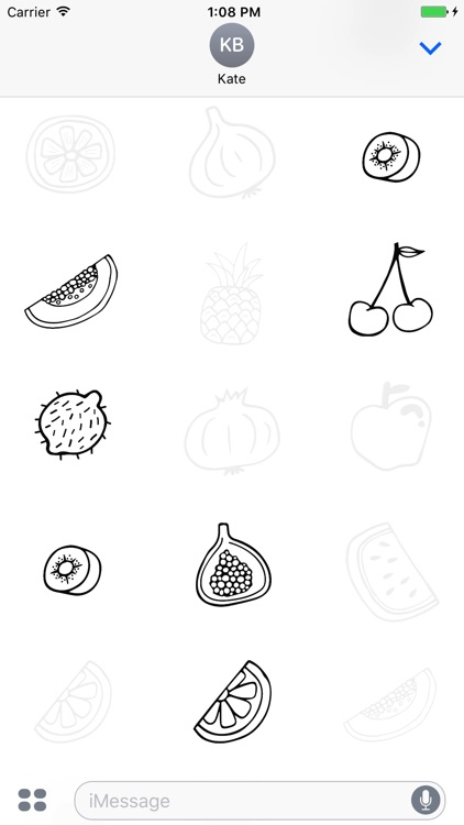 Animated Cute Fruit Stickers screenshot-2