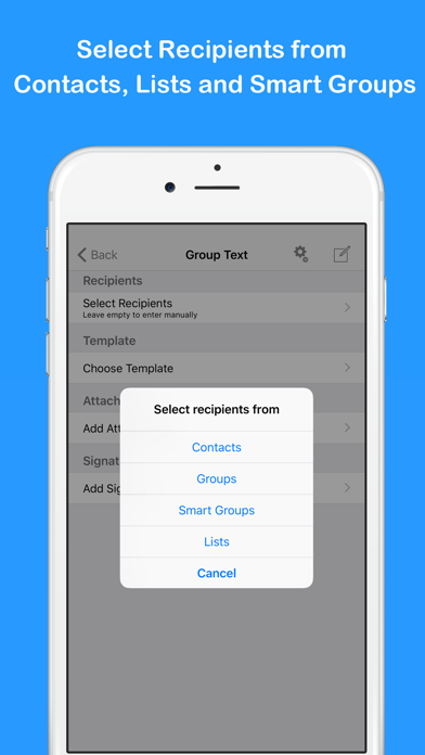 Group Text and Email Pro屏幕截图2