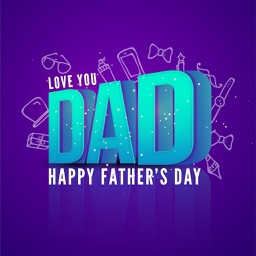 Father's Day Greetings & Card Maker For #1 DAD