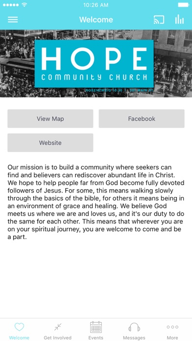 Hope Community Church - MS screenshot 1