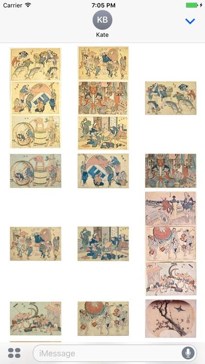 Hokusai Artworks Stickers