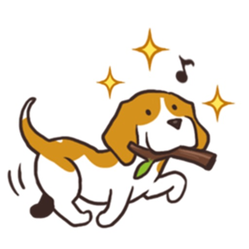 Cute and Smart Beagle Dog Sticker