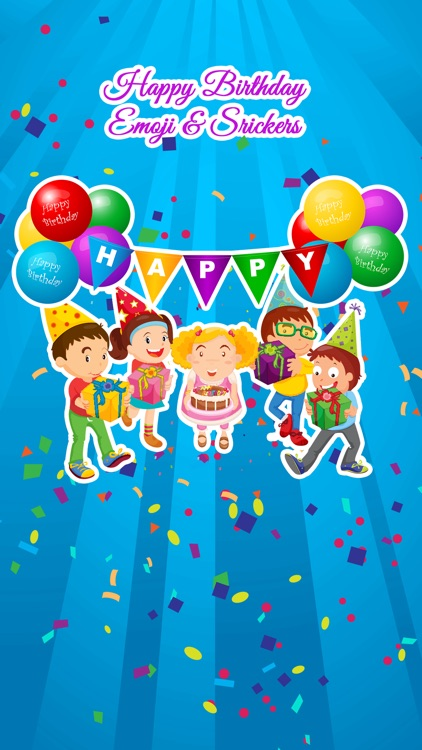 Happy Birthday Emoji and Stickers screenshot-0