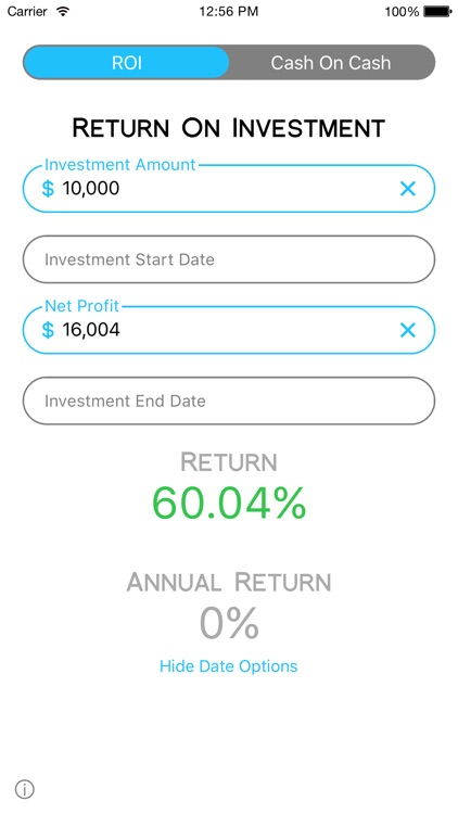 Cash On Calc - Smart, Fast, Investment Calculator
