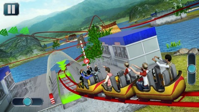 Theme Park Roller Coaster Ride